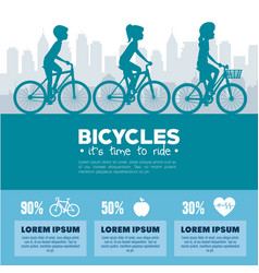 cycling infographic design vector image vector image
