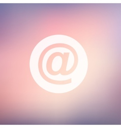 email symbol in flat style icon vector image vector image
