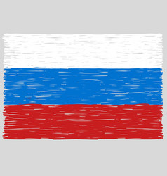 Hand drawn russian flag vector