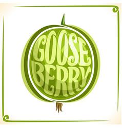 Logo for green gooseberry vector