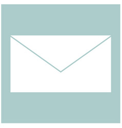Mail the white color icon vector