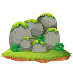 Rocky mountain on island vector