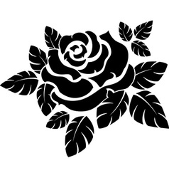 Rose silhouette vector image