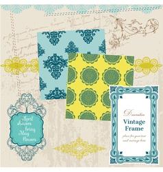 Scrapbook Design Elements - Vintage Tiles vector image