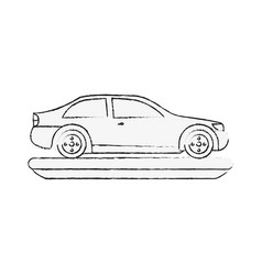 Sedan car vehicle vector