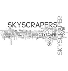 Skyscrapers word cloud concept vector