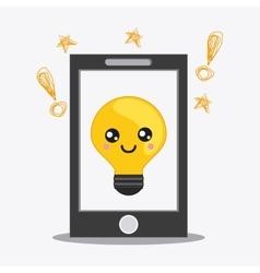 smartphone cartooon icon Kawaii and technology vector image vector image