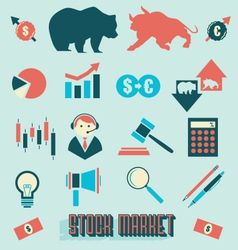 Stock Market Icons and Symbols vector image vector image