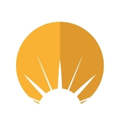 Sun emblem isolated icon vector