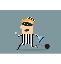 Thief with credit card vector image