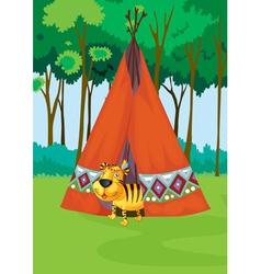 Tiger tent vector