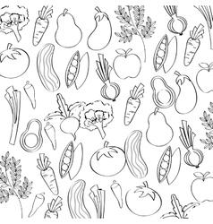 vegan food design vector image vector image