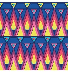 Vibrant triangles seamless pattern background vector image vector image