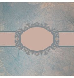 Vintage speech bubble card vector image