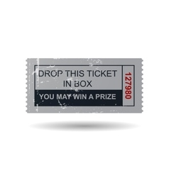 Vintage ticket vector image