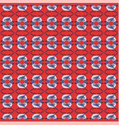 Winter blue birds pattern seamless vector