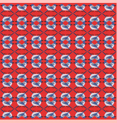 winter blue birds pattern seamless vector image