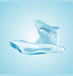 winter decor element vector image