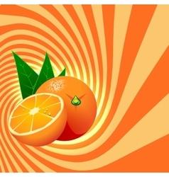 Striped spiral orange confectioners background vector