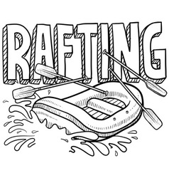 Rafting vector image