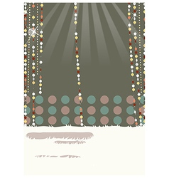 Retro glamorous decorations vector
