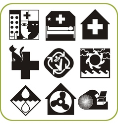 Medical and veterinary - set of icons vector