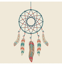 colorful of dream catcher vector image