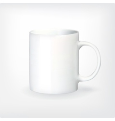 Realistic tea or coffee cup vector image