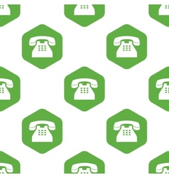 Old phone pattern vector
