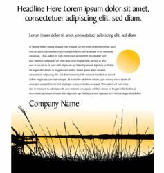 landscape page vector image