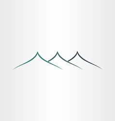Abstract stylyzed mountains icon vector
