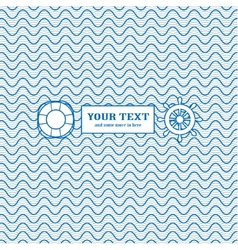Blue and white marine background vector image