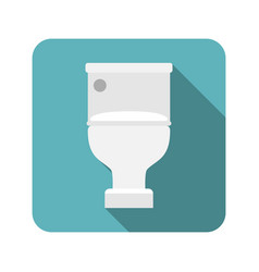Closed toilet seat vector