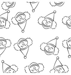 clown circus of doodle style hand draw vector image vector image
