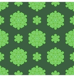 Creative ornamental seamless green pattern vector