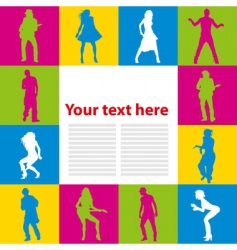 dancing people background vector image vector image