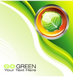 environmental business card vector image vector image