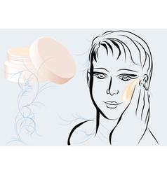 Face moisturiser vector