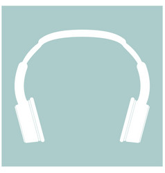 Headphones the white color icon vector