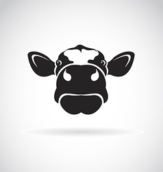image of an cow head vector image vector image