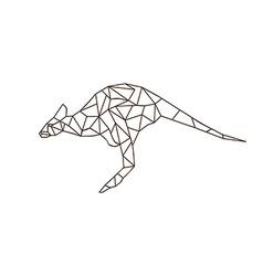 Kangaroo jump colorful mosaic pattern vector
