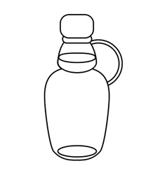 Maple syrup bottle traditional outline vector