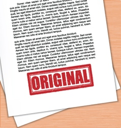 Original Rubber Stamp White Paper vector image vector image