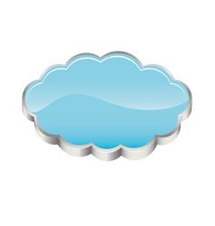 Realistic 3d shape cloud storage vector
