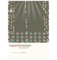 retro glamorous decorations vector image