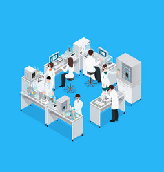science lab workplace composition vector image