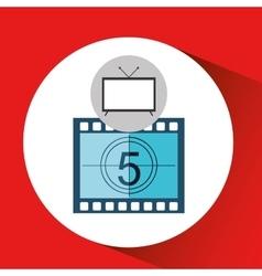 Screen tv movie strip countdown film vector