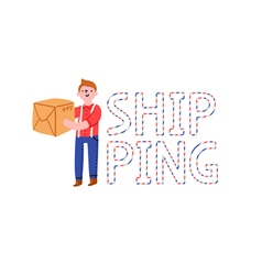 Shipping word vector image vector image