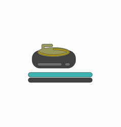stone for curling sport game vector image