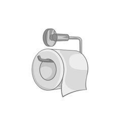 Toilet paper icon black monochrome style vector image vector image